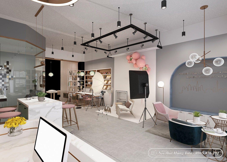 Thiết kế spa kết hợp làm nail đẹp tại Hà Nội