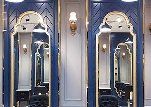 Gương cắt tóc tân cổ điển màu xanh cao cấp GCT32