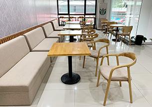 Thumb thiết kế nội thất quán cafe màu vàng gỗ ở Mỹ Đình
