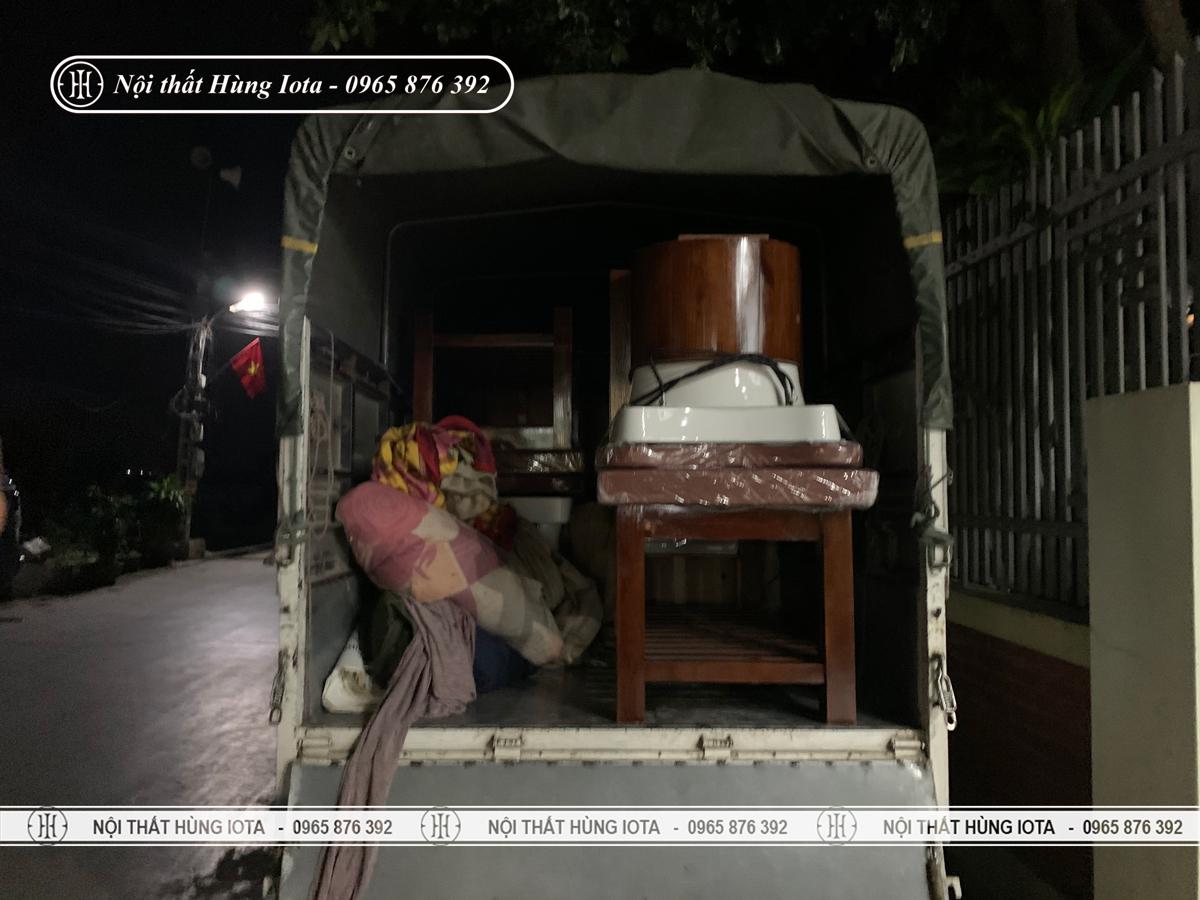 Vận chuyển giường gội spa về Nghệ An