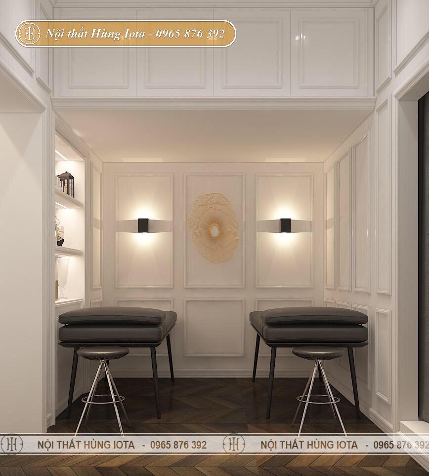 Giường spa cao cấp màu đen gỗ sồi