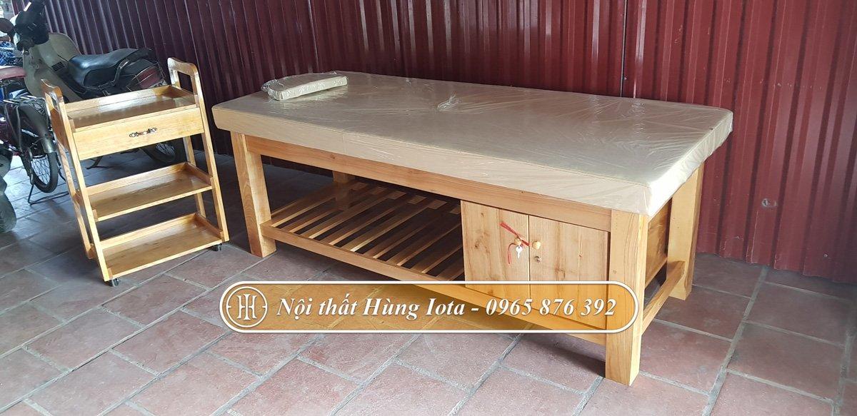 Giường spa có tủ gỗ tại Hưng Yên