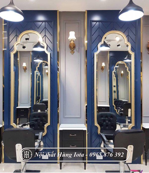 Gương cắt tóc tân cổ điển màu xanh đẹp giá rẻ GCT32