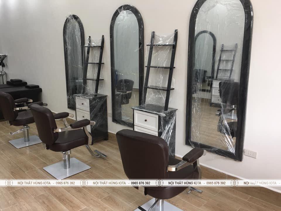 Gương vòm cắt tóc màu đen giá rẻ