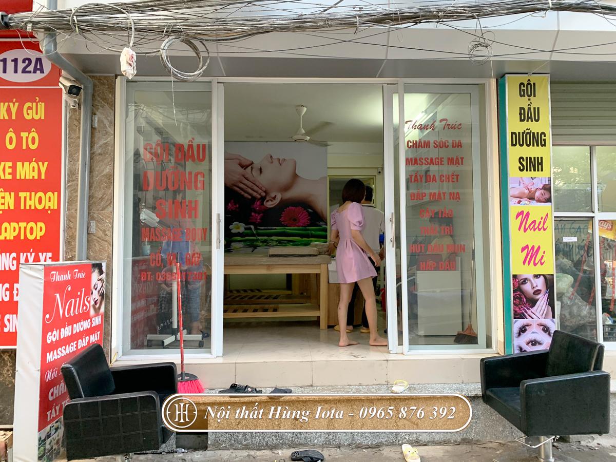 Lắp đặt nội thất salon tóc kết hợp spa Thanh Trức ở Hà Nội