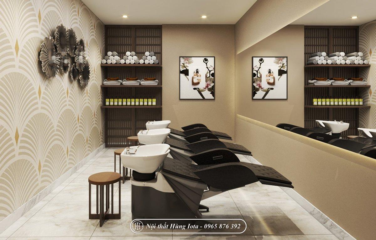 Salon tóc kết hợp với nail và phòng spa