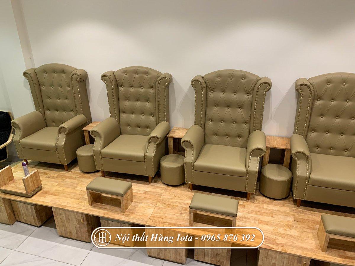 Sofa làm nail sang trọng hiện đại