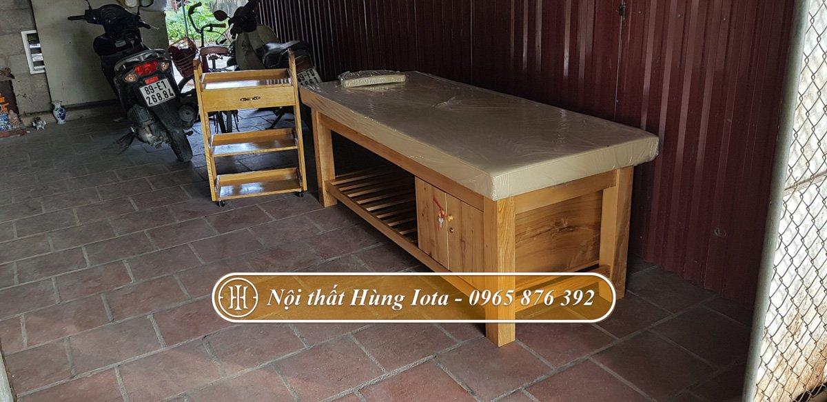 Thiết kế giường spa theo yêu cầu tại Hưng Yên