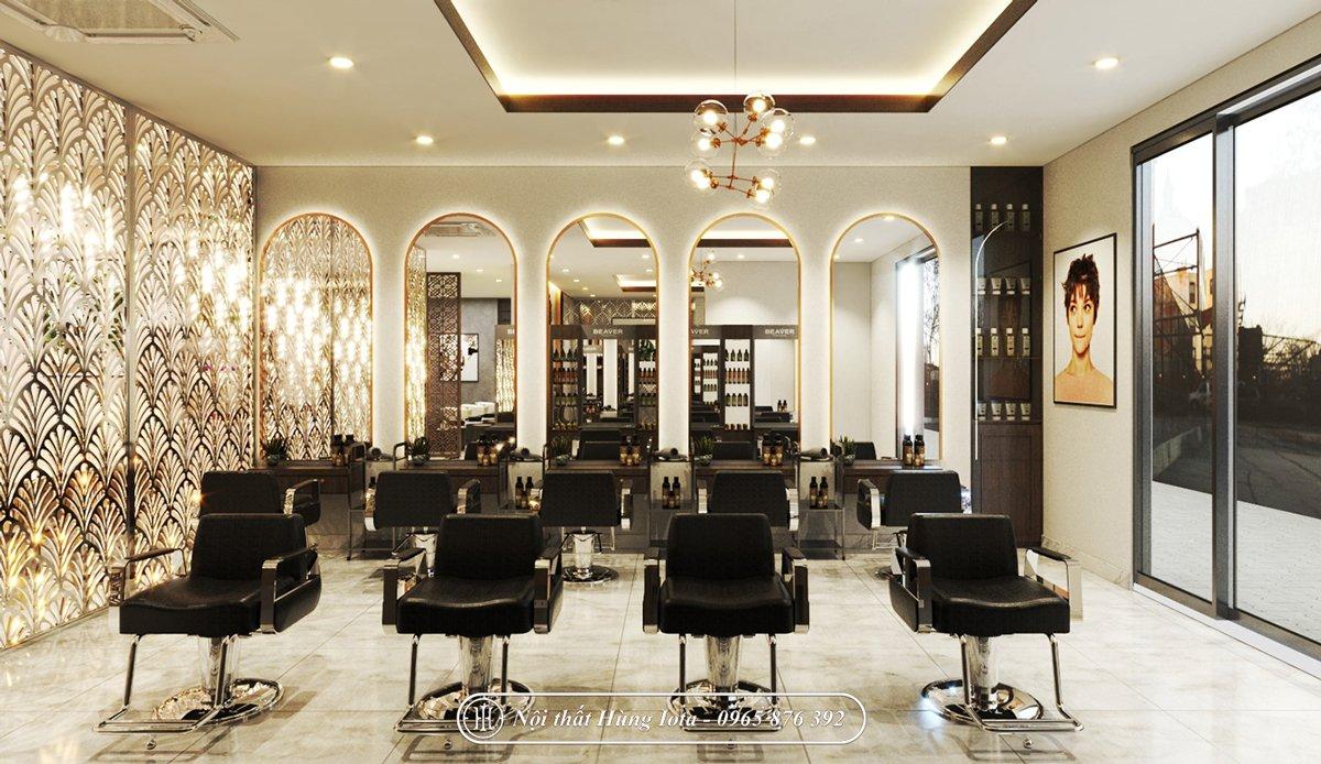 Thiết kế salon tóc kết hợp spa