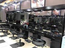 Gương cắt tóc dài hình chữ nhật liền tủ có đèn GCT37