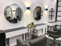 Gương cắt tóc hình tròn có đèn sang trọng GCT40
