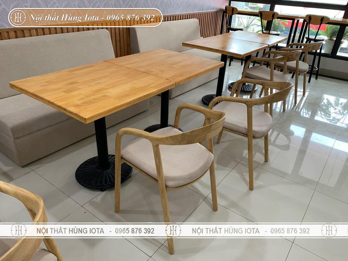 Bàn ghế cafe phong cách hiện đại
