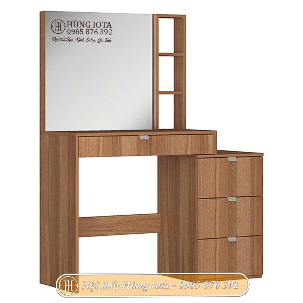 Bàn gương trang điểm gỗ sồi cao cấp