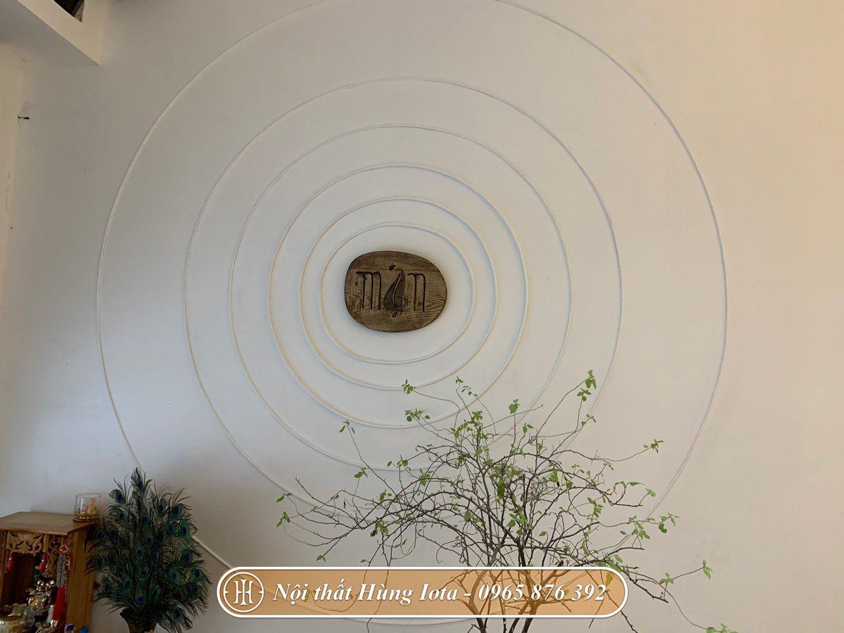 Decor tường spa theo phong cách vintage