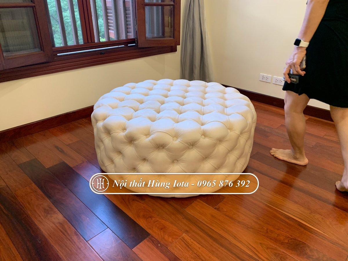Đôn tròn sofa gấp trám chất lượng