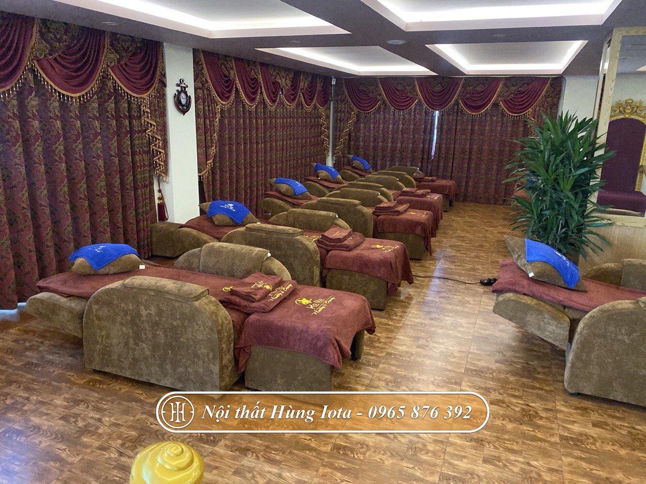 Ghế foot massage khung gỗ sồi chắc chắn
