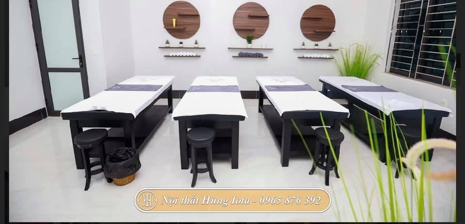 Giường massage màu đen đẹp chất lượng giá tốt