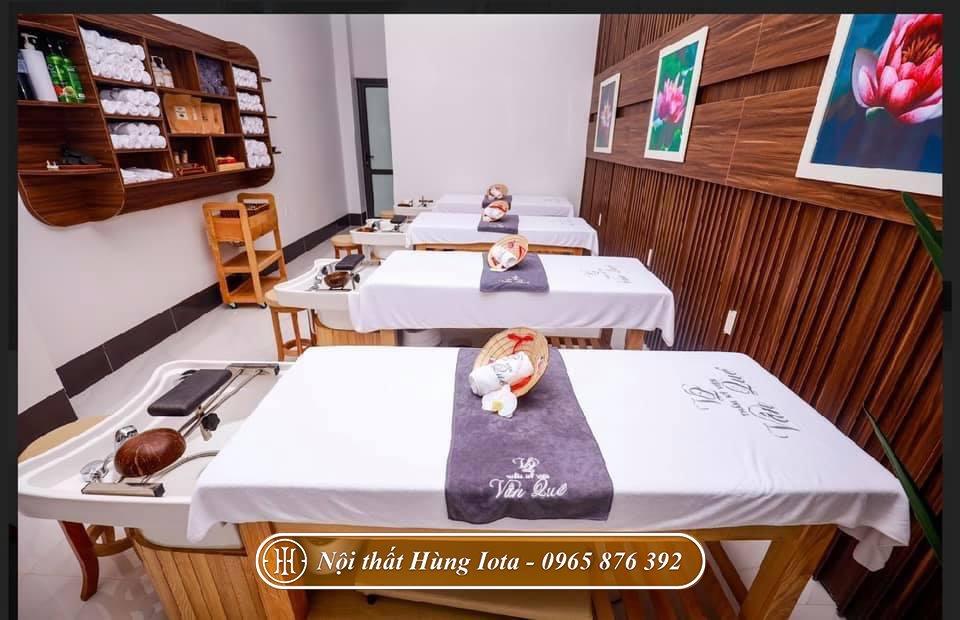 Giường gội dưỡng sinh bồn sứ tại Điện Biên