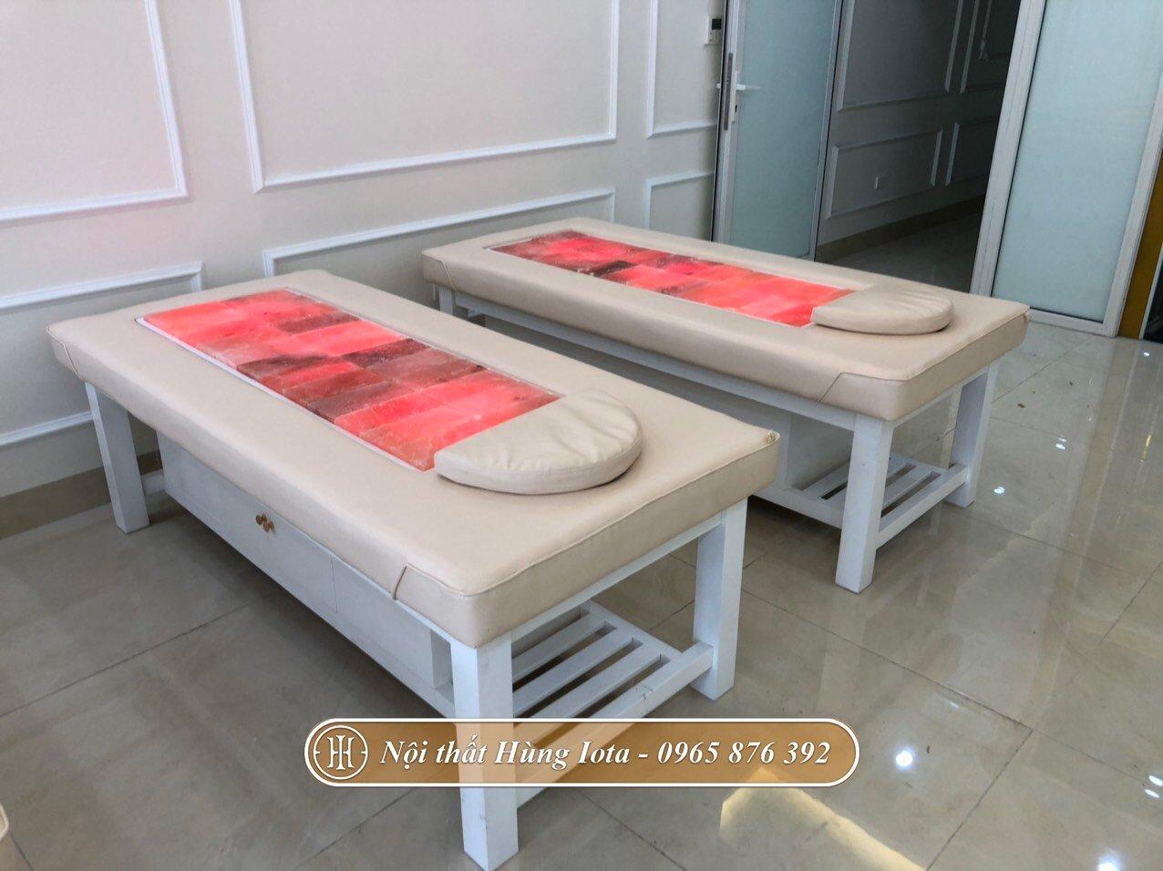 Giường massage đá muối nóng Himalaya
