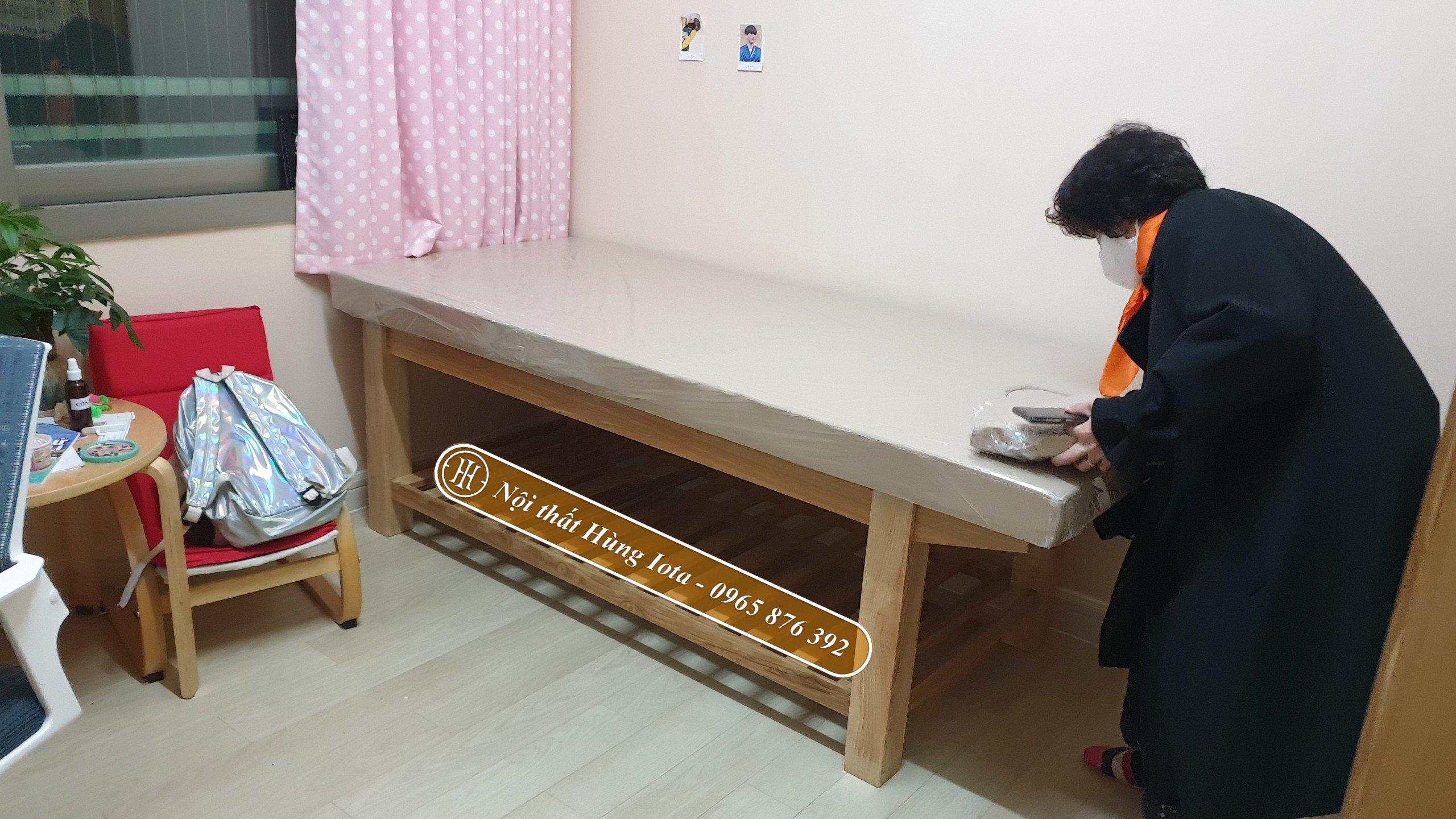 Giường massage gỗ chất lượng chống mối mọt