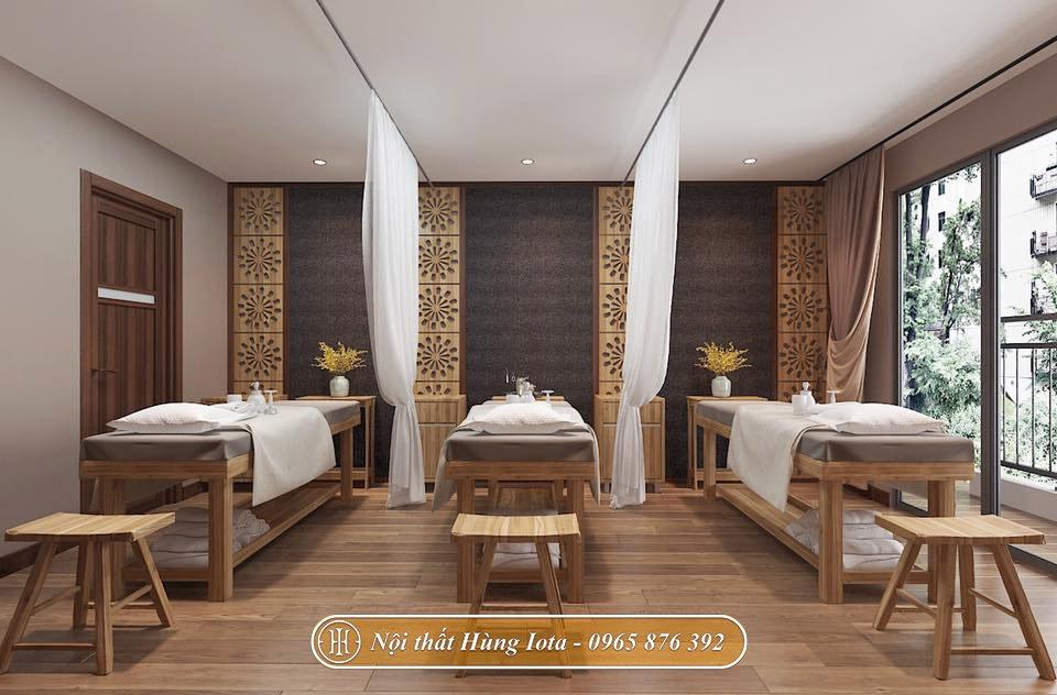 Hệ thống giường spa gỗ chất lượng cao