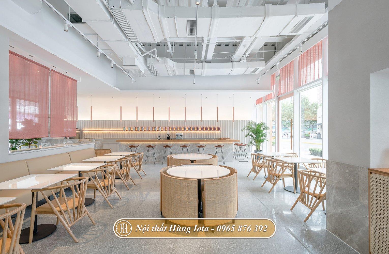 Không gian của hàng cafe hợp xu hướng hiện nay