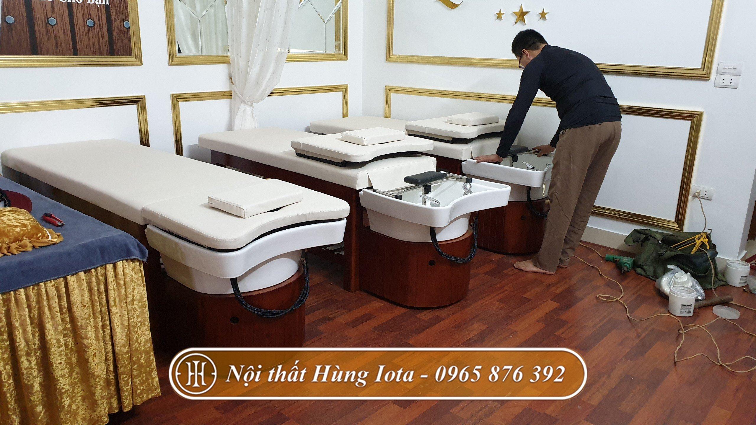 Lắp đặt giường gội đầu dưỡng sinh tại Bắc Ninh