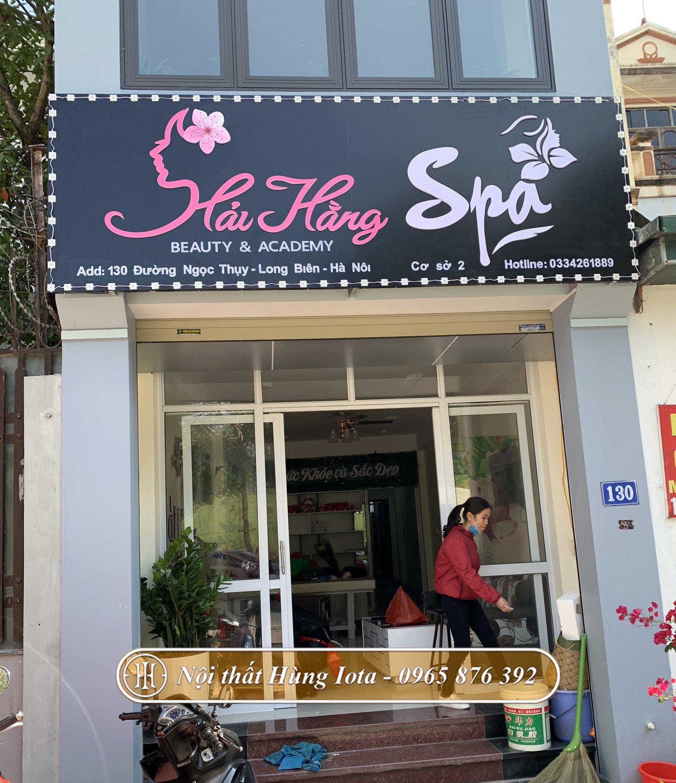 Lắp đặt gương cho spa tại Long Biên