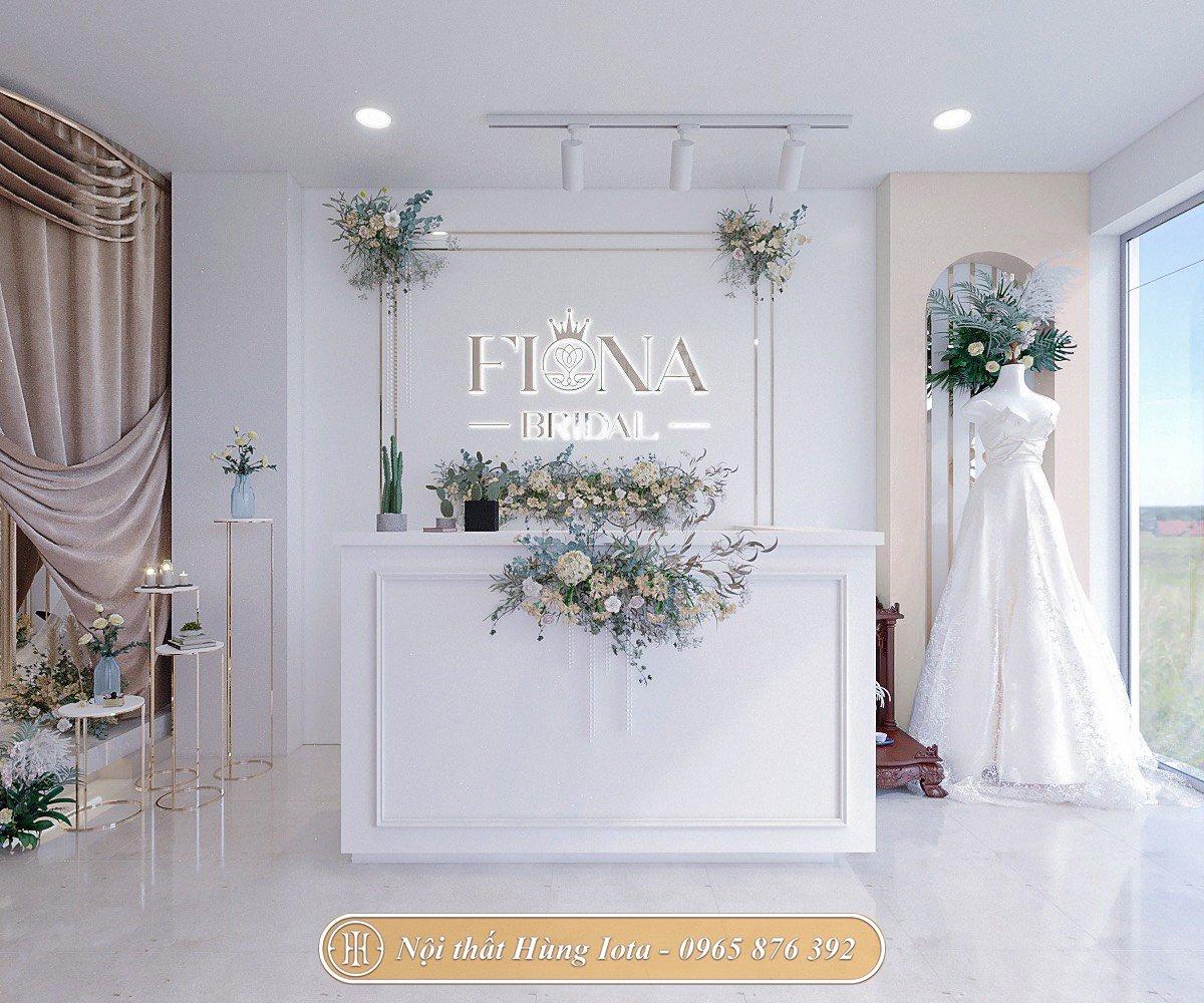 Quầy lễ tân cho cửa hàng váy cưới