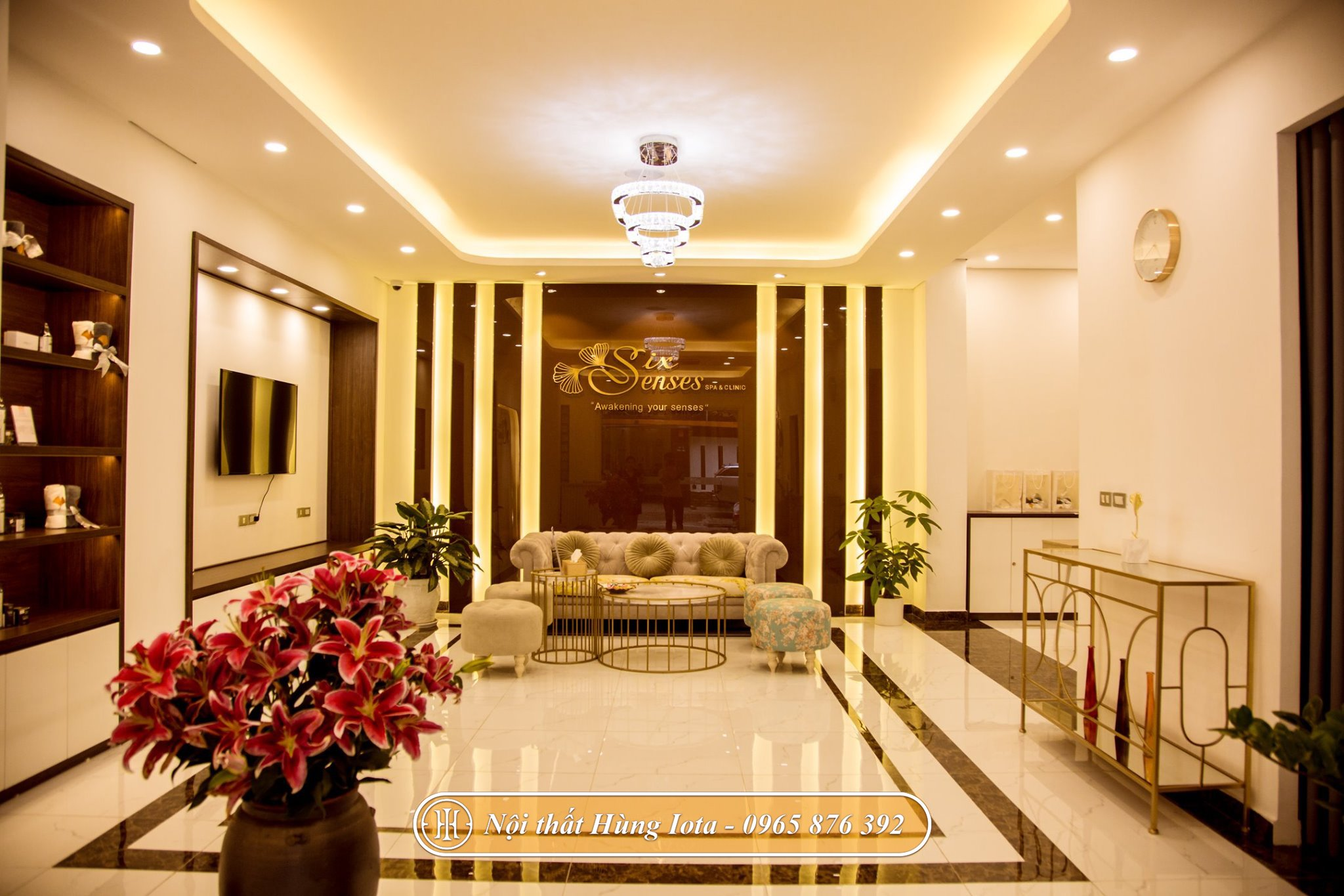 Phòng khách của trung tâm Six Sense Beauty & Clinic