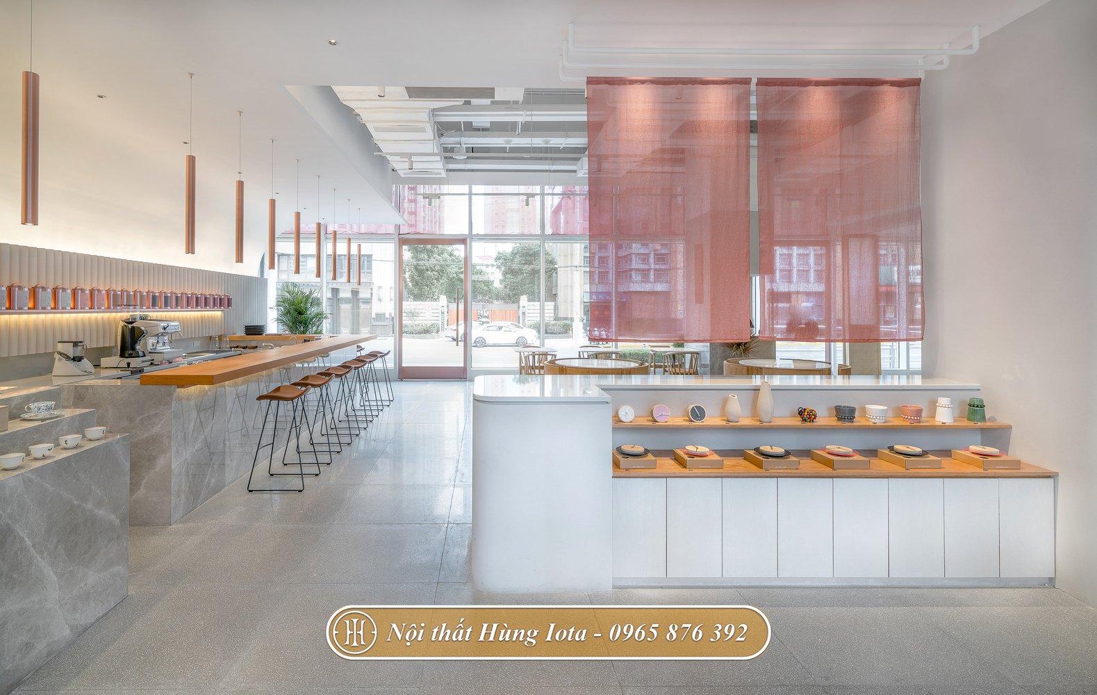 Thiết kế nội thất của hàng cafe hay trà sữa
