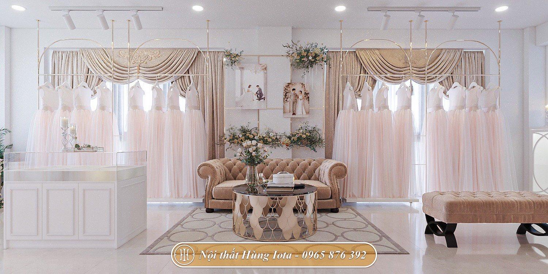 Thiết kế nội thất theo yêu cầu cho tiệm váy cưới