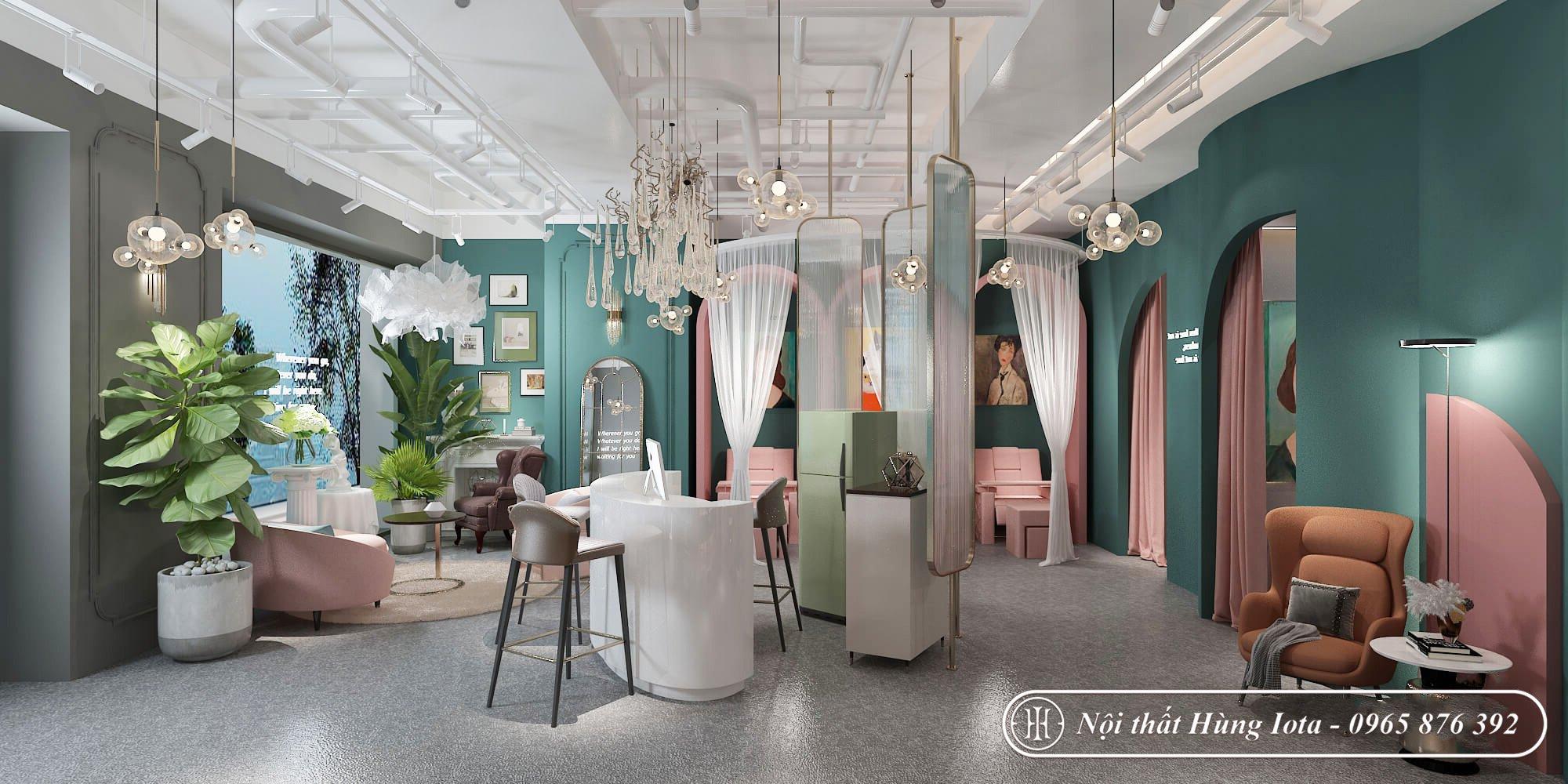 Thiết kế tiệm nail phong cách châu Âu