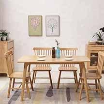 Bàn ăn gia đình Obama 4 ghế Pinnstol decor kiểu dáng hiện đại