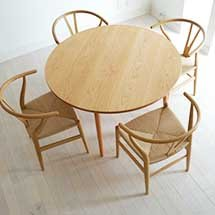 Bàn ăn tròn và ghế đan mây decor thiết kế theo yêu cầu