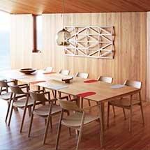 Bộ bàn ăn nhà hàng 12 ghế Hiroshima hiện đại