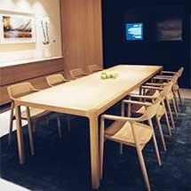 Bàn làm việc gỗ decor 8 ghế Hiroshima hiện đại chuyên nghiệp