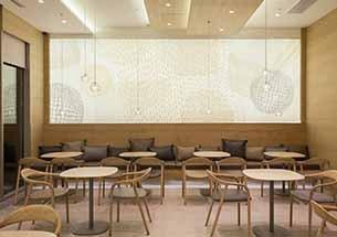 Thumb ghế ngồi uống cafe màu gỗ Neva có tay