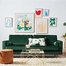 Sofa nhung Iota cho spa, gia đình, salon sang trọng đẳng cấp