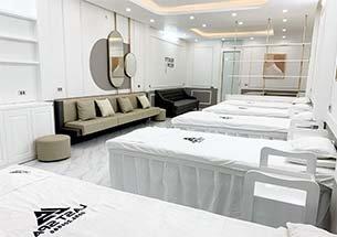 thumb lắp đặt nội thất spa tại Đông Anh tông màu trắng