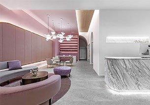 Thumb thiết kế spa tông màu hồng nhạt