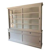 Tủ đựng sản phẩm màu trắng ngà to đẹp tính năng ưu việt TSP22