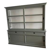Tủ kính trưng bày sản phẩm màu xanh xám cổ điển đẹp TSP20