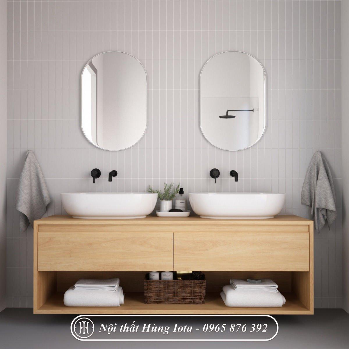 Tủ đựng khăn cho nhà tắm hiện đại