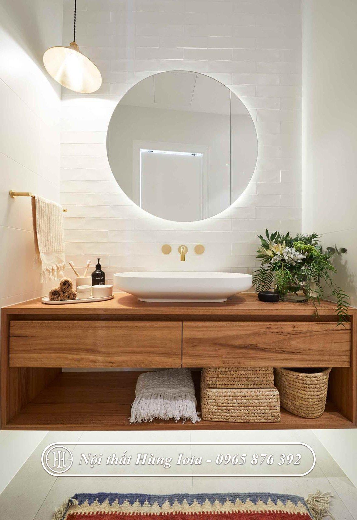 Tủ đựng khăn màu gỗ tự nhiên lộ vân