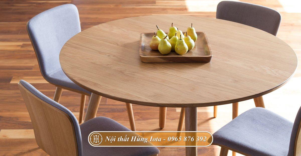 Bàn ăn gia đình 4 ghế decor