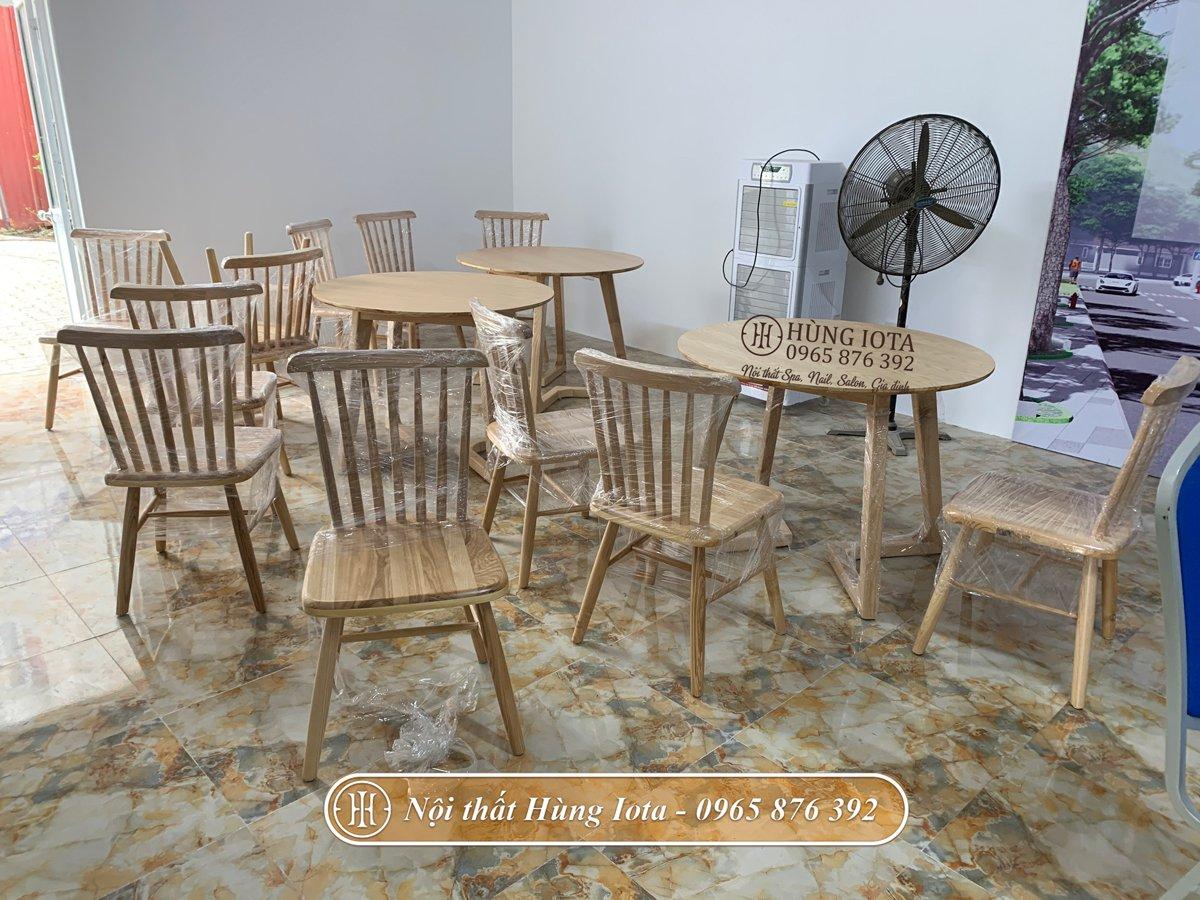 Bàn ghế gỗ decor chất lượng cao