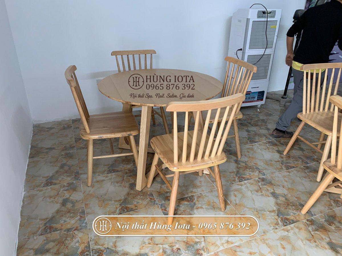 Bàn ghế gỗ decor đẹp giá rẻ tại xưởng