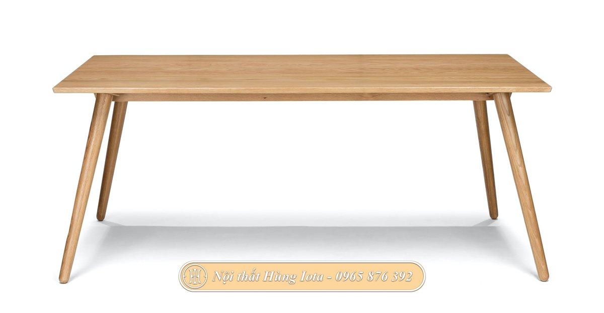 Bàn gỗ hình chữ nhật decor