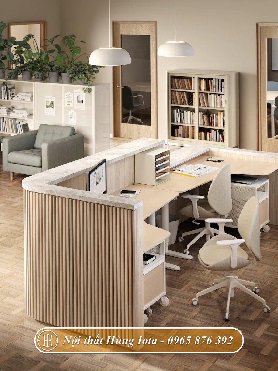 Bàn làm việc đơn giản tại nhà hay văn phòng
